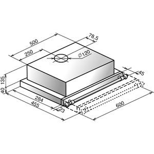 Встраиваемая вытяжка ELIKOR Интегра 60 крем/рейлинг бронза
