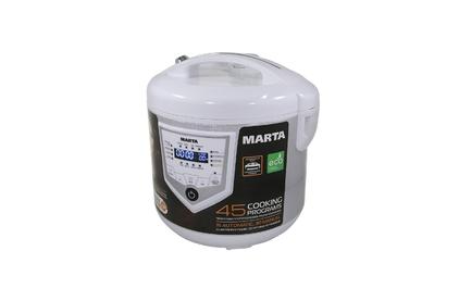 Мультиварка Marta MT-4308 белый/сталь