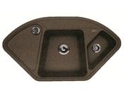 Мойка из композитного материала Florentina Капри коричневый