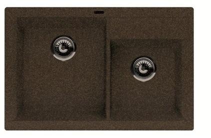 Мойка из композитного материала Florentina Касси-780 коричневый