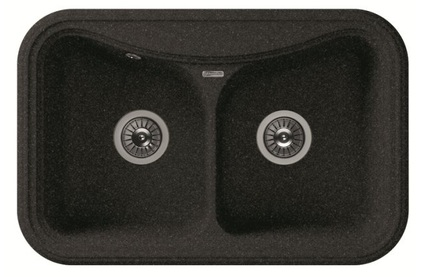 Мойка из композитного материала Florentina Крит-780A чёрный
