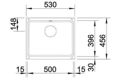 Мойка из керамики Blanco SUBLINE 500-U керамика, серый алюминий
