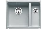 Мойка из керамики Blanco SUBLINE 350/150-U серый алюминий (с клапаном автоматом)