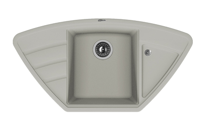 Мойка из композитного материала Florentina Липси-980С серый