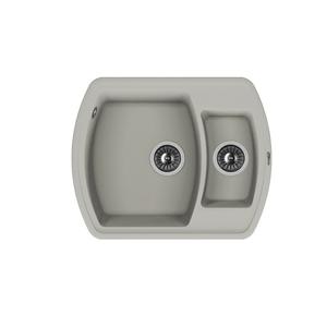 Мойка из композитного материала Florentina Нире-630К серый