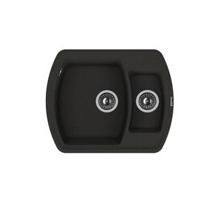 Мойка из композитного материала Florentina Нире-630К черный