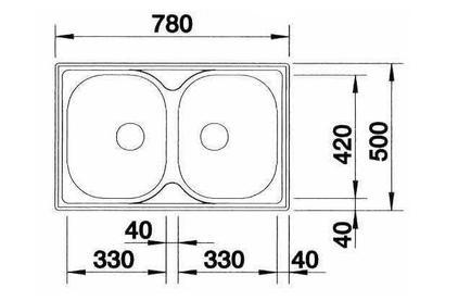 Мойка из нержавеющей стали Blanco TIPO 8 COMPACT сталь матовая