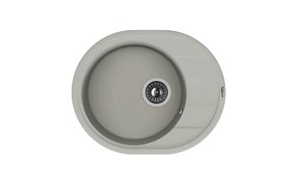 Мойка из композитного материала Florentina Родос-580 серый