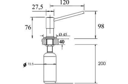 Дозатор моющего средства Blanco TORRE 512593