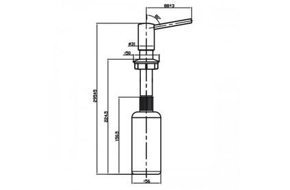 Дозатор моющего средства Omoikiri OM-02-C