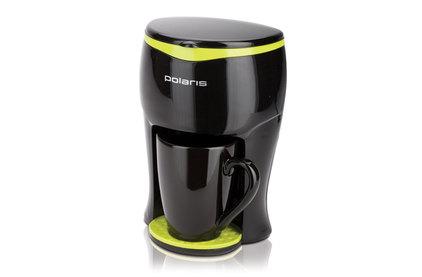Капельная кофеварка Polaris PCM 0109 Черный/салатовый