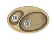 Мойка из композитного материала Florentina Селена 780 песочный