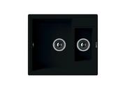 Мойка из композитного материала Florentina Липси 580К черный