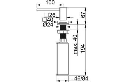 Дозатор моющего средства Franke Centinox нержавеющая сталь