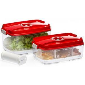 Вакуумная упаковка STATUS Контейнеры для вакуумных упаковщиков, набор VAC-REC-Bigger Red