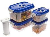 STATUS Контейнеры для вакуумных упаковщиков, набор VAC-REC-Smaller Blue