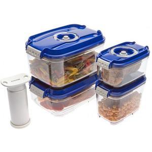 Вакуумная упаковка STATUS Контейнеры для вакуумных упаковщиков, набор VAC-REC-Smaller Blue