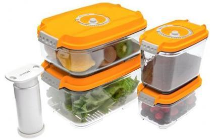 Вакуумная упаковка STATUS Контейнеры для вакуумных упаковщиков, набор VAC-REC-Smaller Orange