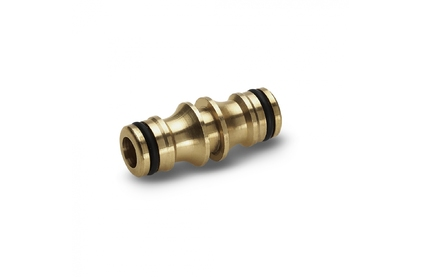 Соединитель и фитинг для систем полива Karcher Латунный двухсторонний соединитель 2.645-100