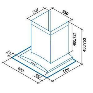 Каминная вытяжка Shindo VEGA sensor 60 SS/G 3ETC