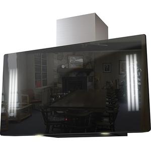 Каминная вытяжка Krona Naomi Silent mirror 900 black 5P-S