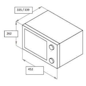 Отдельностоящая микроволновая печь MAUNFELD GFSMO.20.5W