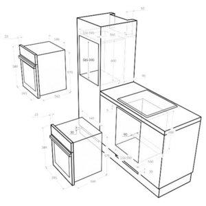 Электрический духовой шкаф MAUNFELD MEOFE 676RILB TMS