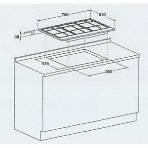 Газовая варочная поверхность Hotpoint-Ariston PC 750 T GH /HA