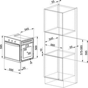 Электрический духовой шкаф Franke CM 65 M WH